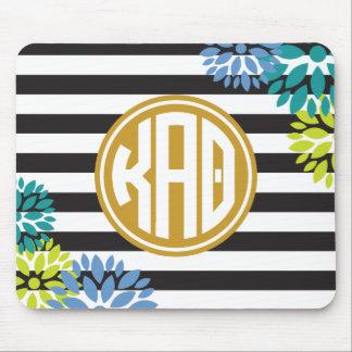 Kappa Alpha Theta | Monogram Stripe Pattern Mouse Mat