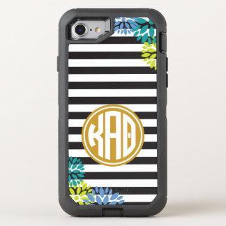 Kappa Alpha Theta | Monogram Stripe Pattern OtterBox Defender iPhone 8/7 Case