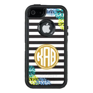 Kappa Alpha Theta | Monogram Stripe Pattern OtterBox Defender iPhone Case
