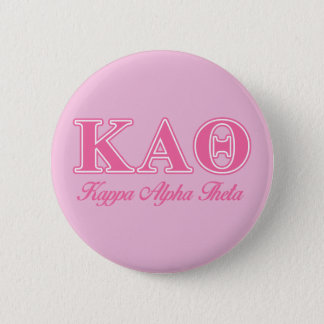 Kappa Alpha Theta Pink Letters 6 Cm Round Badge