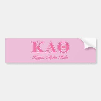 Kappa Alpha Theta Pink Letters Bumper Sticker