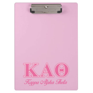 Kappa Alpha Theta Pink Letters Clipboard