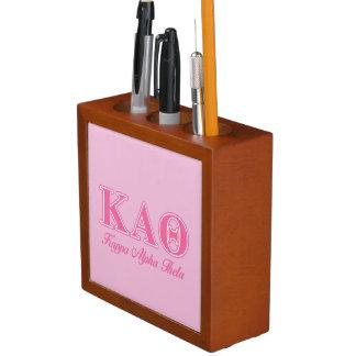 Kappa Alpha Theta Pink Letters Desk Organiser