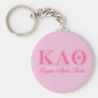 Kappa Alpha Theta Pink Letters Key Ring