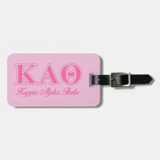 Kappa Alpha Theta Pink Letters Luggage Tag