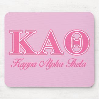 Kappa Alpha Theta Pink Letters Mouse Mat