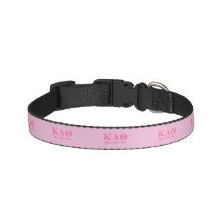 Kappa Alpha Theta Pink Letters Pet Collar