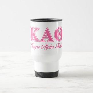 Kappa Alpha Theta Pink Letters Travel Mug