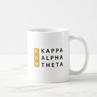 Kappa Alpha Theta | Stacked Logo Coffee Mug