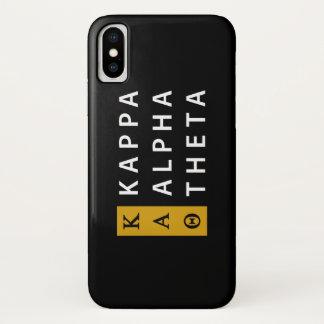 Kappa Alpha Theta   Stacked Logo iPhone X Case