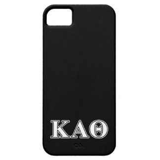 Kappa Alpha Theta White and Black Letters iPhone 5 Case