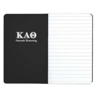 Kappa Alpha Theta White and Black Letters Journal