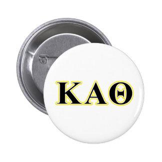 Kappa Alpha Theta Yellow and Black Letters 6 Cm Round Badge