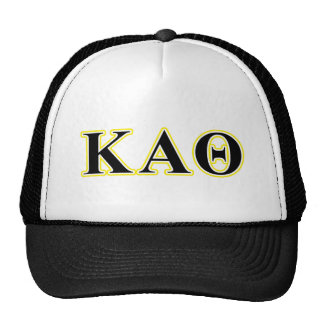 Kappa Alpha Theta Yellow and Black Letters Cap