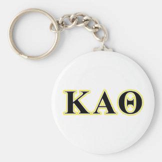 Kappa Alpha Theta Yellow and Black Letters Key Ring