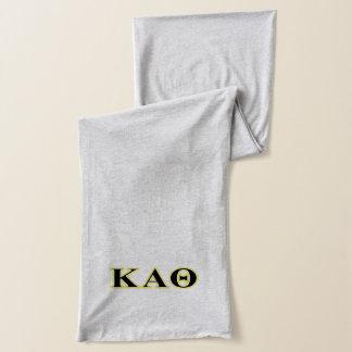 Kappa Alpha Theta Yellow and Black Letters Scarf