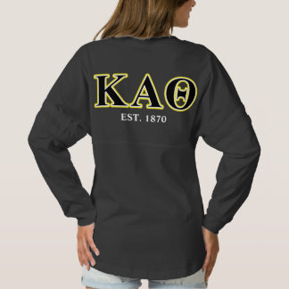 Kappa Alpha Theta Yellow and Black Letters Spirit Jersey