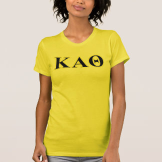 Kappa Alpha Theta Yellow and Black Letters T-Shirt