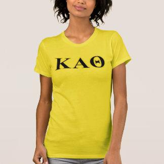 Kappa Alpha Theta Yellow and Black Letters T-Shirt