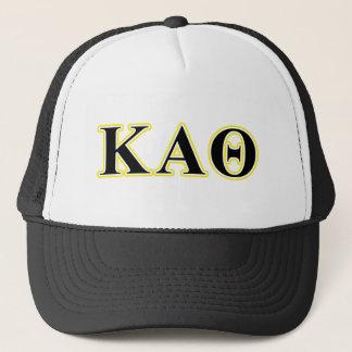 Kappa Alpha Theta Yellow and Black Letters Trucker Hat
