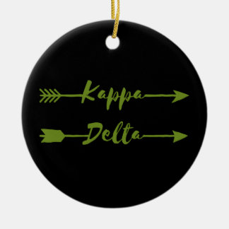 Kappa Delta Arrow Christmas Ornament