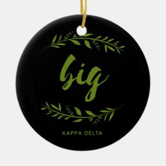 Kappa Delta Big Wreath Christmas Ornament