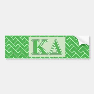Kappa Delta Green Letters Bumper Sticker