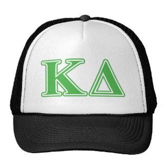 Kappa Delta Green Letters Cap