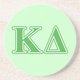 Kappa Delta Green Letters Coasters