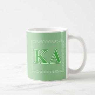 Kappa Delta Green Letters Coffee Mug
