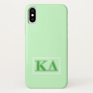 Kappa Delta Green Letters iPhone X Case