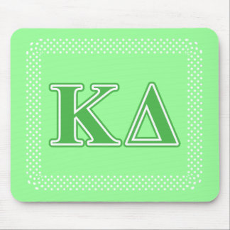 Kappa Delta Green Letters Mouse Pad