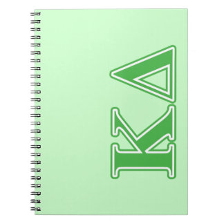 Kappa Delta Green Letters Notebooks