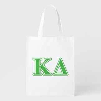 Kappa Delta Green Letters Reusable Grocery Bag