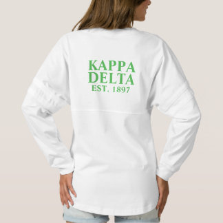 Kappa Delta Green Letters Spirit Jersey
