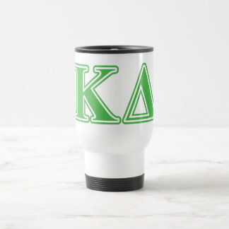 Kappa Delta Green Letters Travel Mug