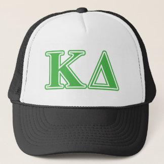 Kappa Delta Green Letters Trucker Hat