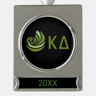 Kappa Delta Lil Big Logo Silver Plated Banner Ornament