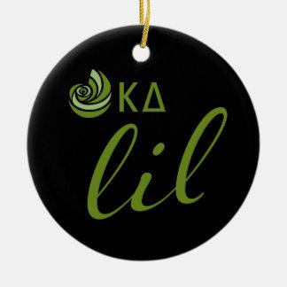 Kappa Delta Lil Script Christmas Ornament