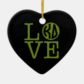 Kappa Delta Love Christmas Ornament