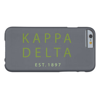 Kappa Delta Modern Type Barely There iPhone 6 Case