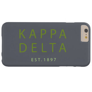 Kappa Delta Modern Type Barely There iPhone 6 Plus Case