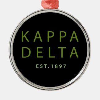 Kappa Delta Modern Type Christmas Ornament