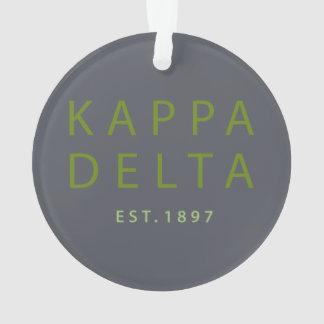 Kappa Delta Modern Type Ornament