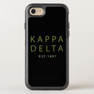 Kappa Delta Modern Type OtterBox Symmetry iPhone 8/7 Case