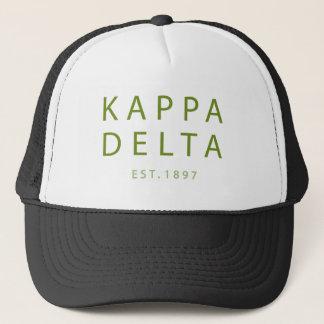 Kappa Delta Modern Type Trucker Hat