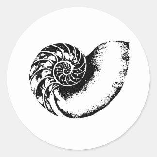 Kappa Delta Nautilus Round Sticker