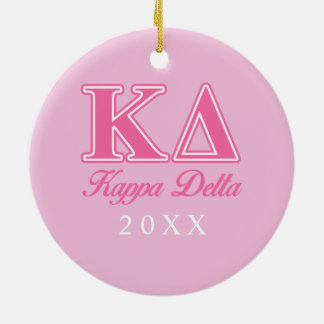 Kappa Delta Pink Letters Christmas Ornament