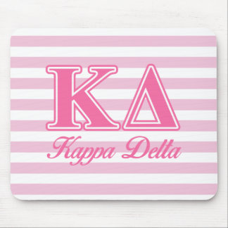 Kappa Delta Pink Letters Mouse Mat