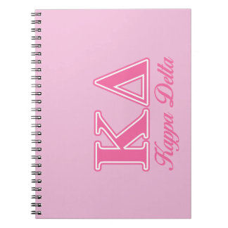 Kappa Delta Pink Letters Notebook